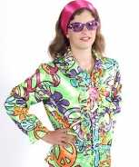 Foute flower power blouse kids peace party