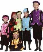 Foute luxe blauwe pieten party kleding voor kinderen